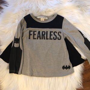 "GAP ""Fearless"" Batman shirt with detachable cape"